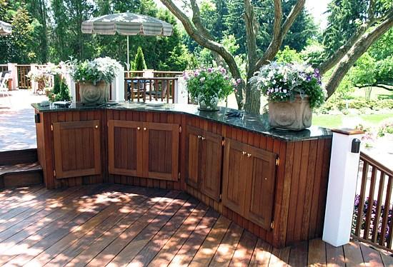 Outdoor kitchen photos outdoor fireplaces photos for Eldorado stone outdoor kitchen cabinet